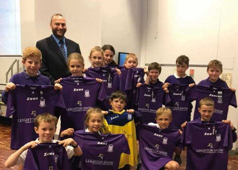 Bramhall Estate Agent Leighton Snow sponsors sporty pupils at Ladybrook Primary School